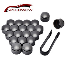 SPEEDWOW 20pcs 17mm Car Wheel Auto Hub Screw Cover Nut Bolt Cap With 4pcs Locking Caps For Volkswagen Golf MK4 Audi
