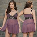 High elasticity plus size lace Sexy lingerie costumes women nighty lady chemise erotic/exotic dress G-string Babydoll XXXL 6XL