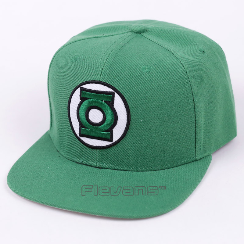 Prix pour DC Super Hero Green Lantern Logo Mode Snapback Caps Hommes Réglable Baseball Chapeaux
