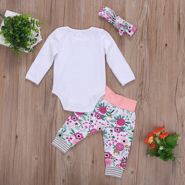 Pudcoco Newborn Infant Baby Clothing Set Fall Long Sleeve Bodysuit