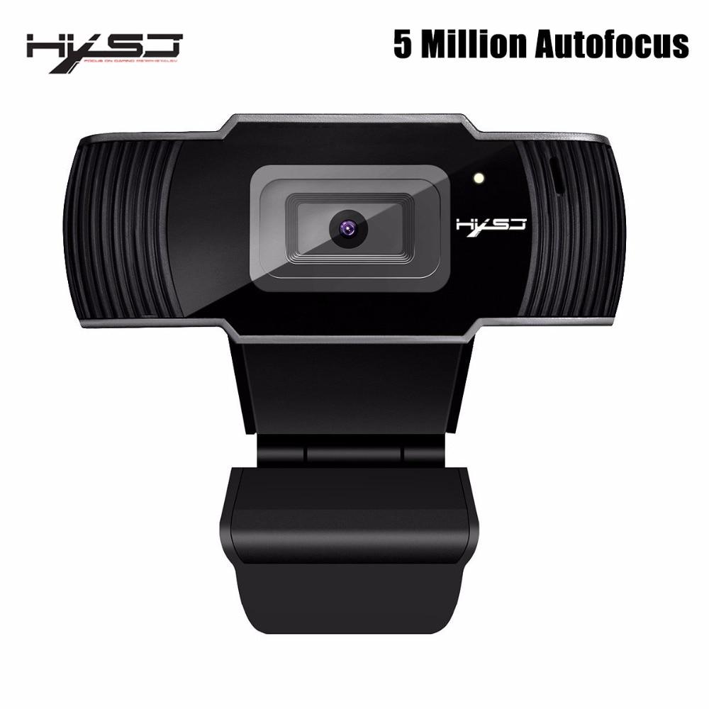 HXSJ webcam HD Caméra 5 Millions AF Caméra HD web cam Soutien 1080 P 720 P pour la Visioconférence et Android Smart TV