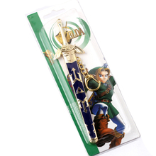 17cm Anime Zelda Skyward Metal Sword Keychain Legend Weapon with Scabbard Pendant Key Chains Key Rings for Fathers Day Gifts