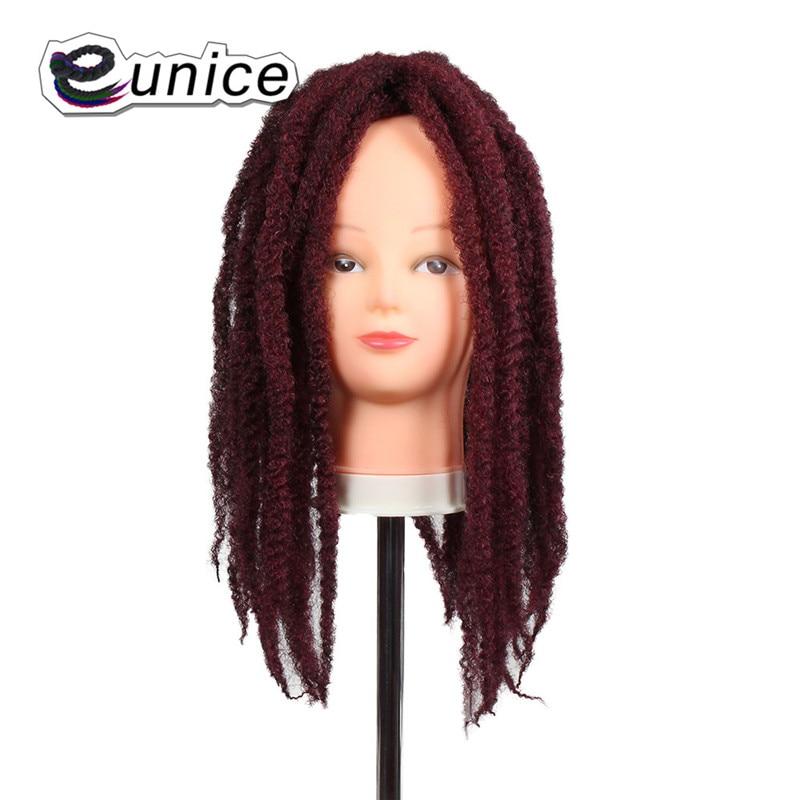 Marley Braids Hair Extension Synthetic Ombre Afro Kinky Crochet Kanekalon Braiding Hair (20)