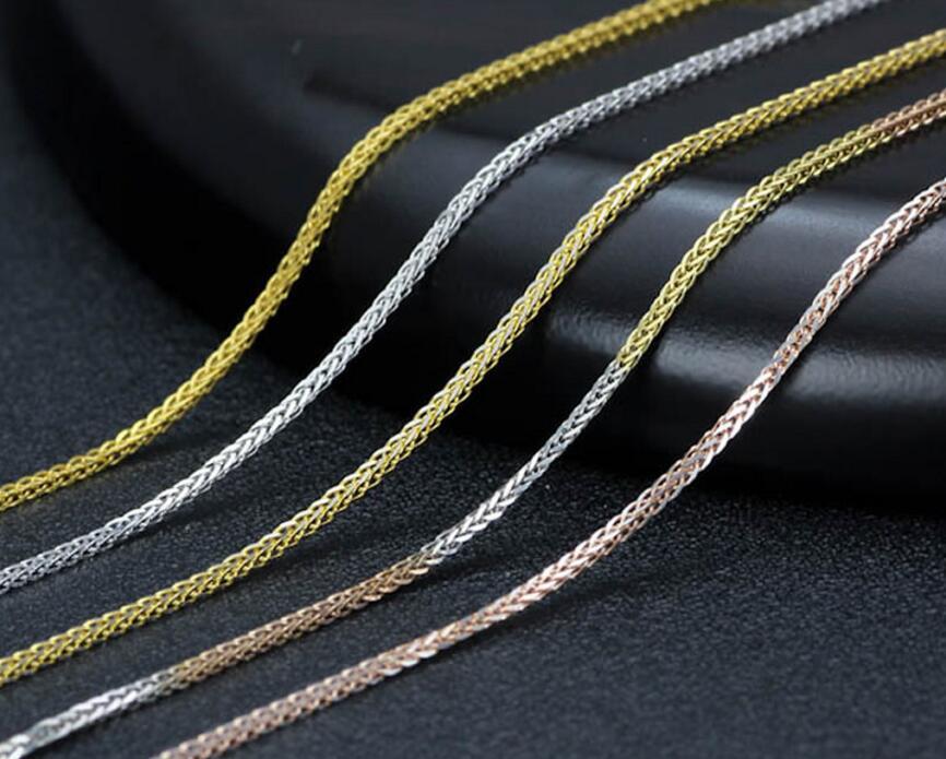 Мода Чистый желтого золота Цепочки и ожерелья жаждал большие Пшеница Цепочка Цепочки и ожерелья 1 pieces4 Цвет 2,1 Г