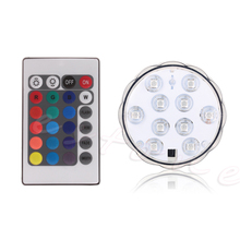 Waterproof LED RGB Submersible Light Wedding Party Vase Lamp +Remote Control New