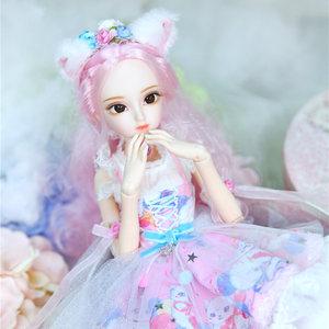 Image 4 - Dbs Doll1/4 Bjd Dairy Queen Naam Door Rebecca Roze Haar Mechanische Joint Body Meisjes, Sd