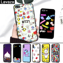 Lavaza BTS BT21 Novelty Fundas Silicone Case for iPhone 5 5S 6 6S 7 8 Plus X XR  XS Max