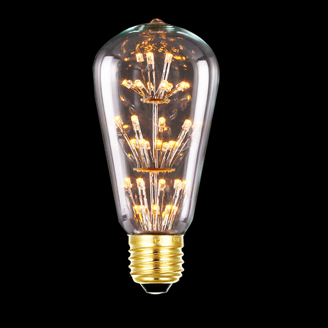 tanbaby 3w st64 led filament bulb e27 warm white edison light bulbs