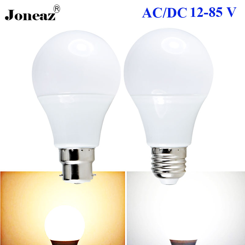 Ampul led ampuller E27 B22 12V 24V 36V 43V 64V AC DC bombilla 3W 5W 9W 12W 15W lampadine lambası alçak gerilim dropshipping Joneaz