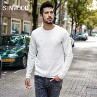 SIMWOOD 2018 Spring Winter Pullover Men Knitted Sweater Slim Fit Male Plus Size High Quality Fashion