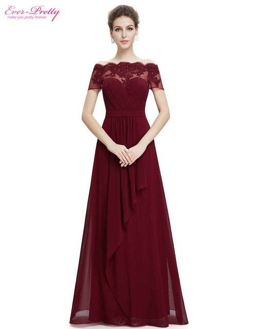 Постоянно красивые вечерние платья EP08490 Для женщин элегантный короткий  рукав лодка шеи Кружева Длинные вечерние платья edd90e03082
