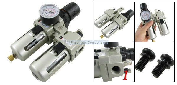 Free Shipping 2PCS/Lot SMC A Series 1'' AC5010-10 Series Two-point Combination F.R.L Combination 4000L/min Flow Rate free shipping g3 4 size ac series frl air combination kit ac5010 06 two units 5pcs per lot