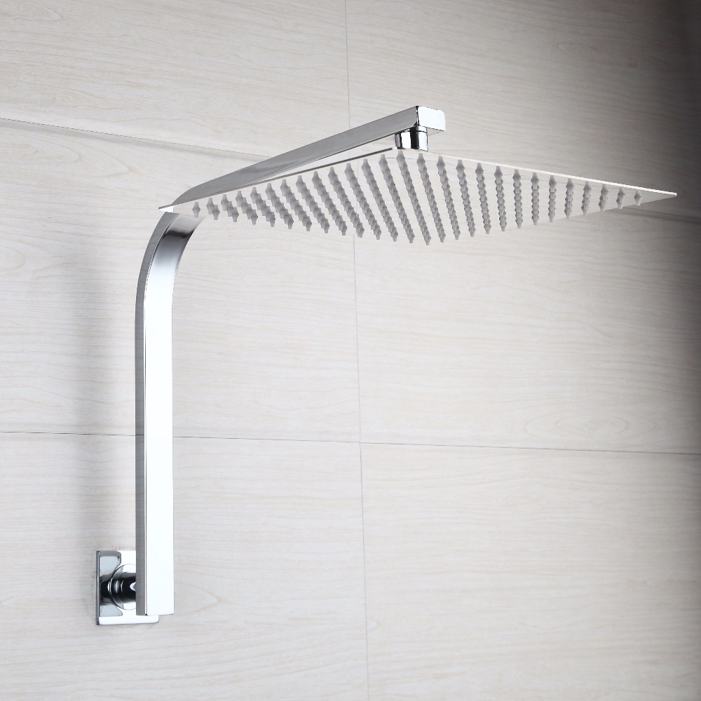 YANKSMART Gooseneck Wall Mount 6 8 10 12 16 Inch Shower Head Set With Control  Valve Hand Sprayer Chrome Polished Bathroom Kit In Shower Faucets From Home  ...