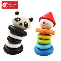 Klassische Welt holz Bär Rassel Tumbler & Panda Rassel Tumbler & Clown Rassel Tumbler Kind Pädagogisches Spielzeug geburtstagsgeschenk