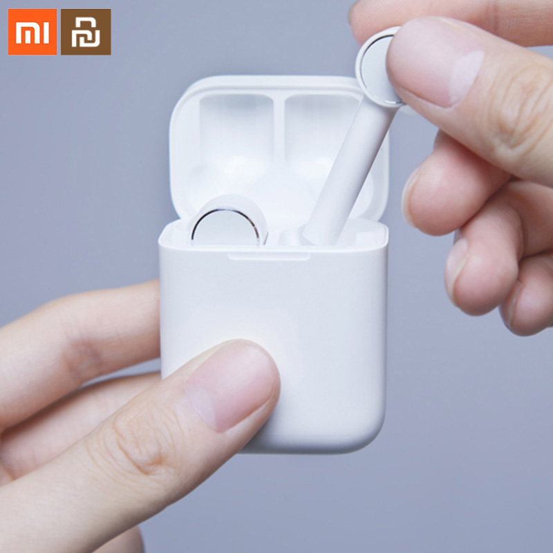Xiaomi mi jia casque Bluetooth Air mi AAC HD réduction du bruit audio toucher TWS casque intelligent sans fil avec bouchons d'oreilles mi crophone
