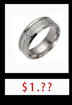 новый нержавеющая сталь один властелин кольцо флуоресцентные светящиеся логотип палец кольца для женщин модные украшения может прямая поставка