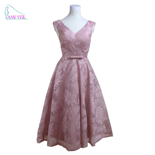 V Neck Pink Prom Dress Evening Short Dress Plus Size Lace Half Gown Dresses  Red Cheap. placeholder ... 328e026a0275