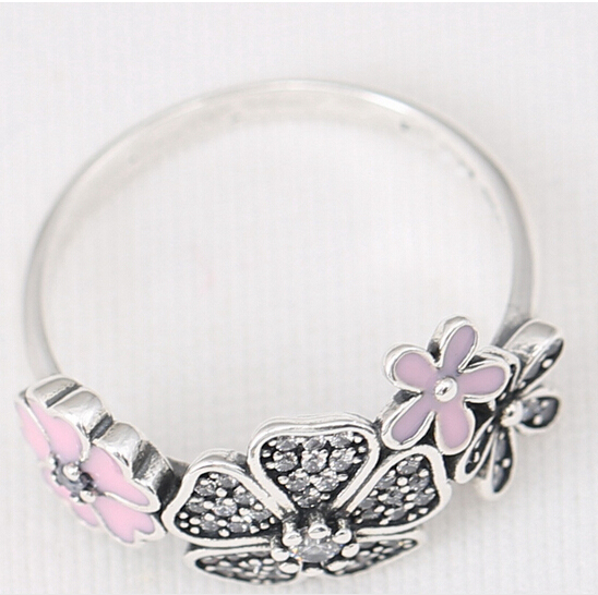 12f4fe8aa 2016 Spring Silver Shimmering Bouquet Ring with Enamel 925 Sterling Silver  Flower Rings Compatible with pandora Jewelry