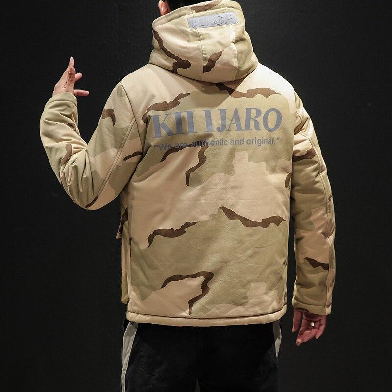 Mode Épaississent De Kaki Veste 5xl Capuchon Hiver Hommes Manteau Nouvelle Pardessus 4xl À Et Parkas D'hiver Plus 2018 La Taille Chaud Camouflage qx8vFw