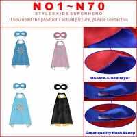50 kinder Super hero capes-Doppel seiten Satin Stoff super hero cape + maske partei liefert für kinder geburtstag party cosplay