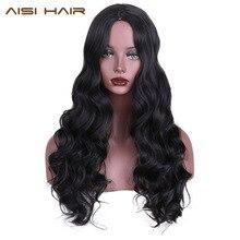 Aisi волосы синтетический парик для черные женские длинные Косплей парики волнистые волосы с высокой температуры