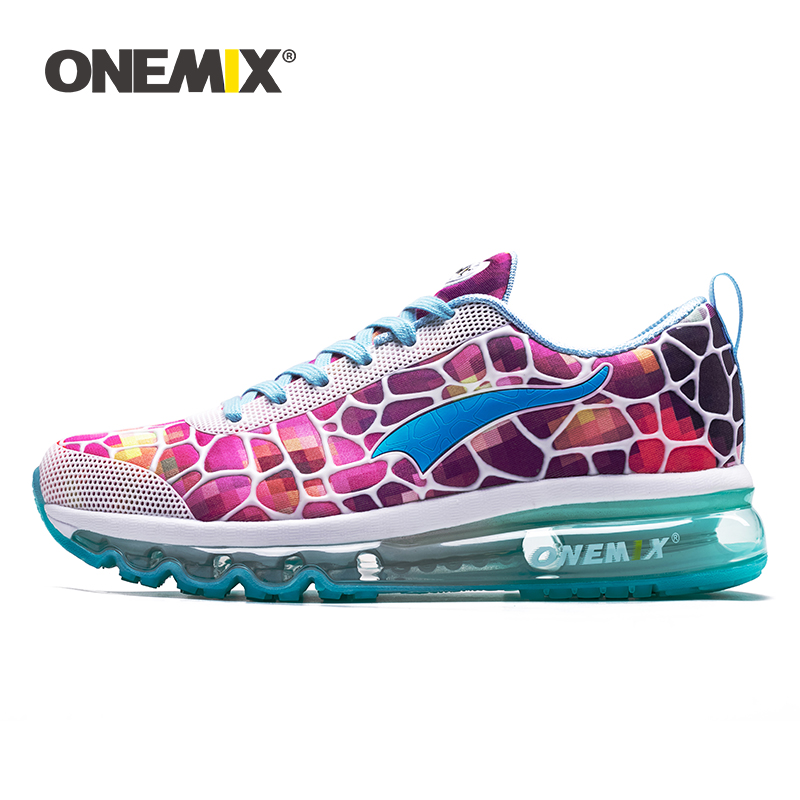 ONEMIX running shoes women s balloon breathable outdoor sports light buffer walking shoes professional sports shoes