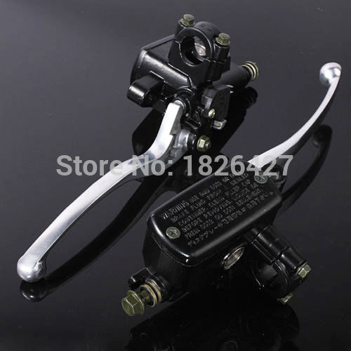 Black 125mm Motorcycle Racing Street Bike Left and Right Handlebar Hydraulic Reservoir Brake Clutch Master Cylinder Lever 1 piece left or right 7 8 handlebar motorcycle hydraulic brake master cylinder clutch lever