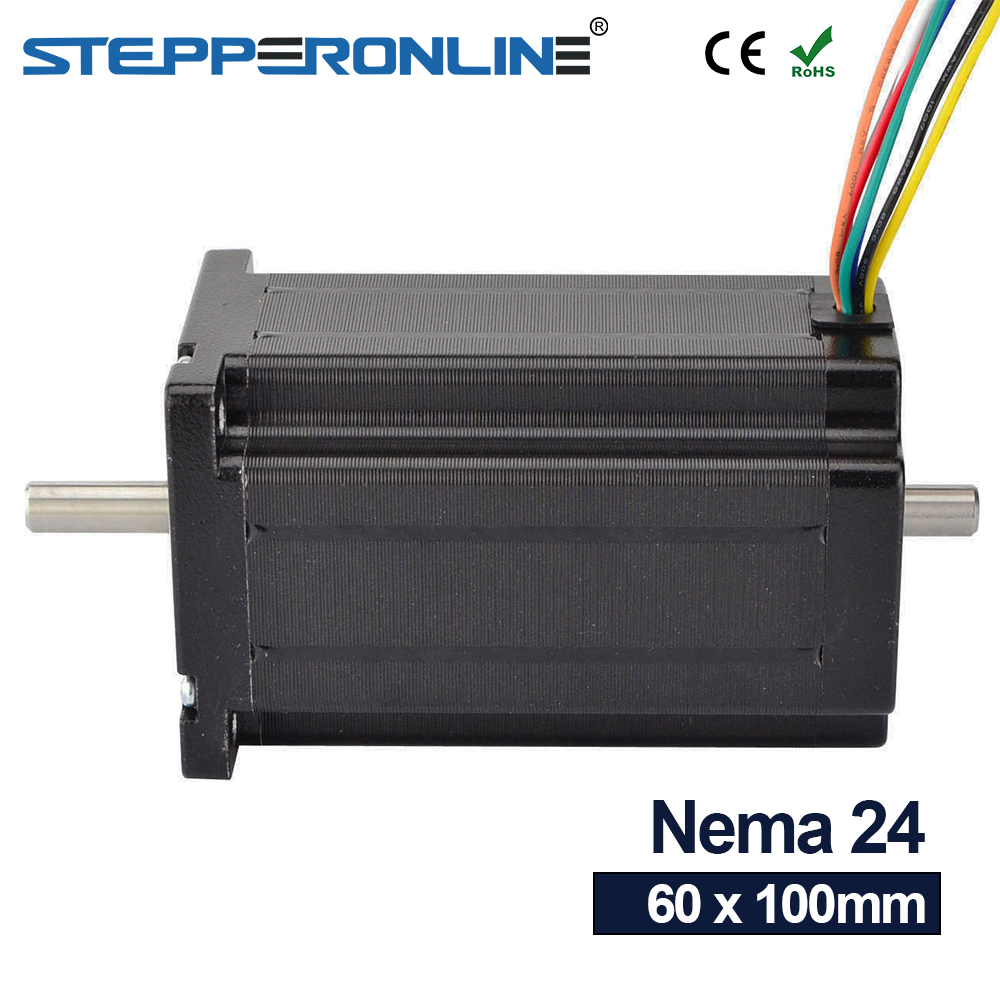 8 lead Nema 24 Stepper Motor Dual Shaft 1 8deg 4Nm 566 oz in 100mm Length