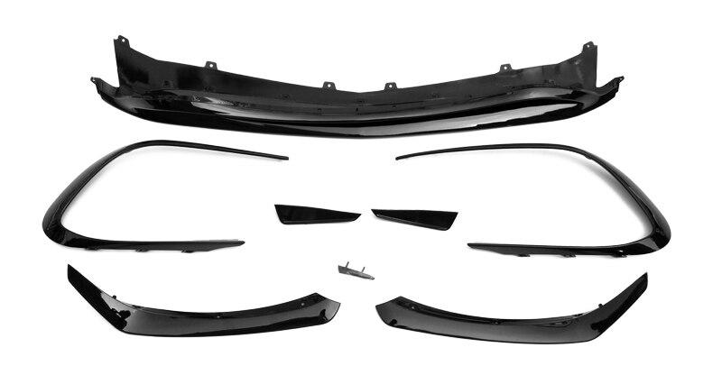 Accessoires de voiture pour Mercedes Benz CLA-classe W117 17-en Canards pare-chocs avant ABS 8 pièces