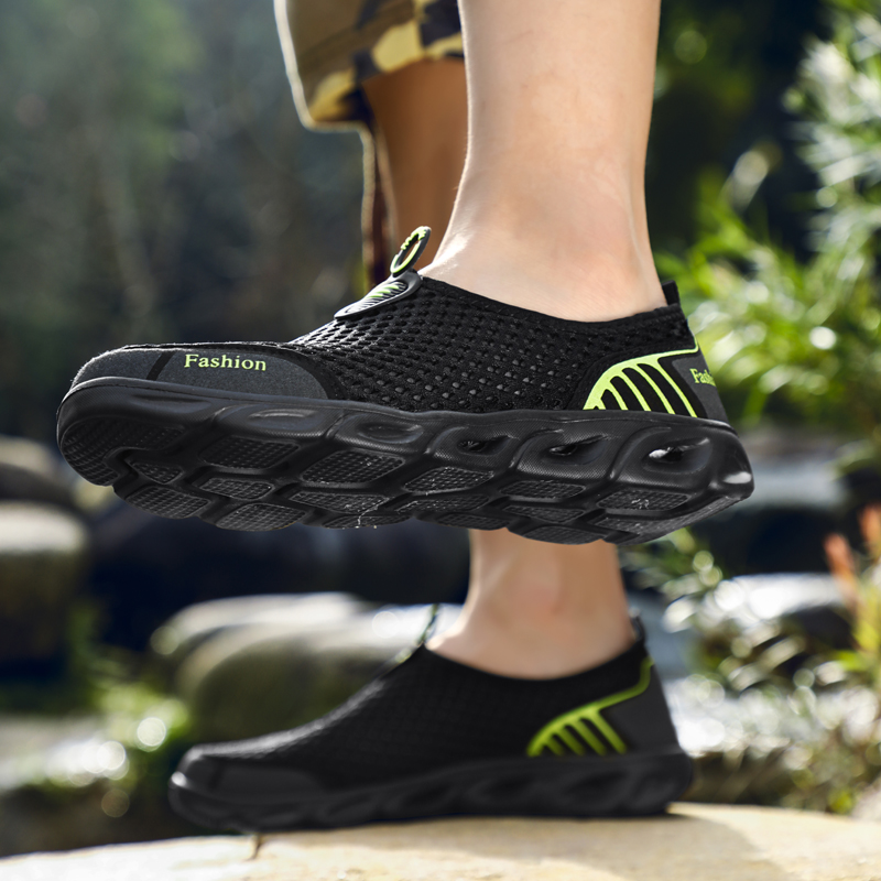 2019 Summer Breathable Mesh Sneakers Men Shoes Comfortable Slip On Male Shoes Loafers Casual Walking Footwear NanX17