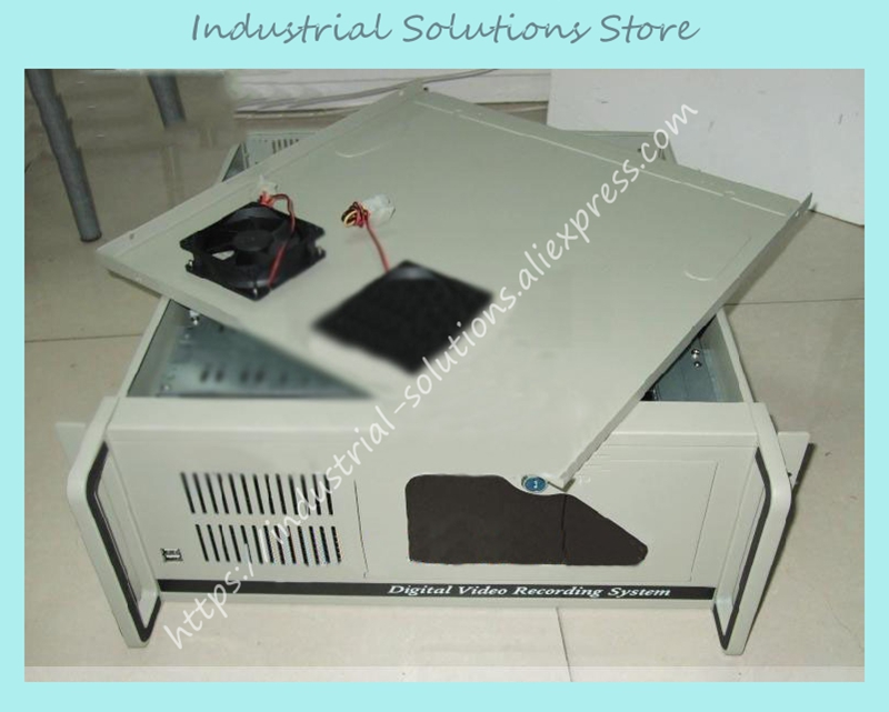 New 4U Computer Case 1.2mm White 4U Industrial Computer Case 4U Server Computer Case Hard Drive Computer Case new 2u industrial computer case 2u server computer case 6 hard drive 2 optical drive 550 large panel high
