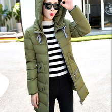 2018 New Hot Style Winter Jacket Coat Women'S Parka Hooded Slim Medium Long Plus Size Down Cotton Parkas Lady Top Female Coats стоимость