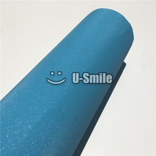 High Quality Baby Blue Sand Bling Vinyl Wrap Sheet Sticker Bubble Free For Phone Laptop Ipad Cover Size:1.52*30M