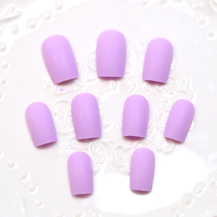 Japanese matte pure color fake nails Cute french false nails set ...