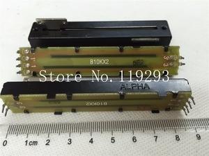 Image 2 - [Sa] 台湾 alpha 8.8 センチメートルストレートバースライドポテンショメータシャフトダブル B10K 8.2 t ストラップ雑巾膜 5 ピース/ロット
