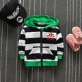 2016 Осенью новый детская одежда детская свитер с капюшоном кардиган мальчики полосой Толстовки Пиджаки Пальто Толстовки