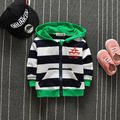 2016 Autumn new children's clothing children's hooded sweater cardigan boys stripe Sweatshirts Outwear Coats Hoodies