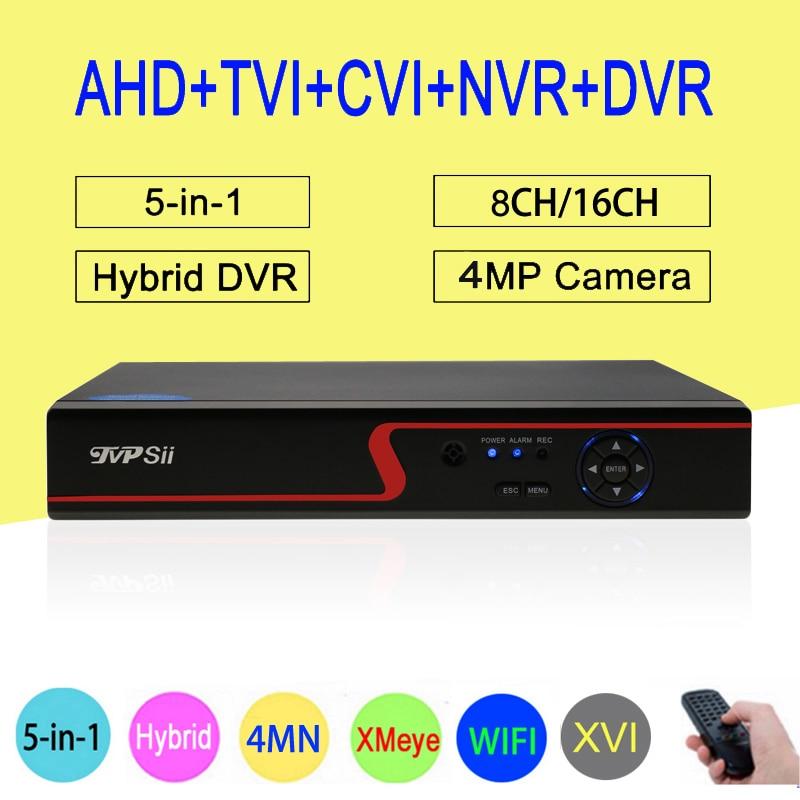 цены на 4MP,1080P,960P,720P,960H Surveillance Camera Red Panel Hi3521A 4M-N 16CH/8CH 6 in 1 WIFI XVI TVi CVI NVR AHD DVR Free Shipping