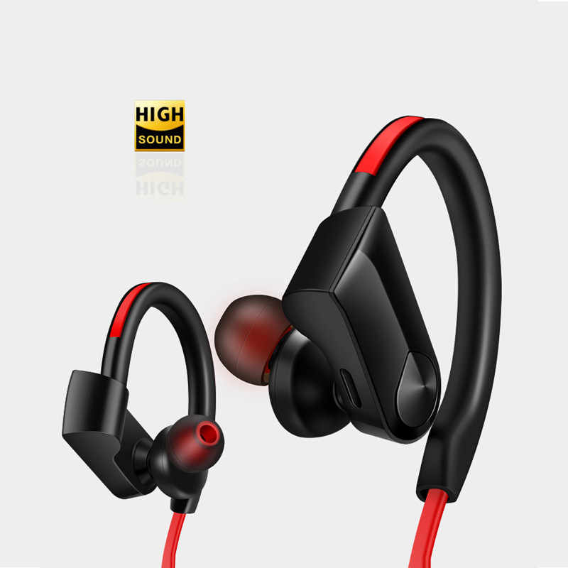 Sport Bluetooth Headphone Nirkabel Earphone Bluetooth Headset Tahan Air Pengurangan Kebisingan dengan Mikrofon untuk Android IOS Ponsel