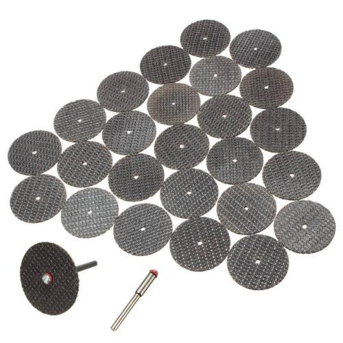 25pc/lot Metal Cutting Disc For Dremel Grinder Rotary Tool Circular Saw Blade Wheel Cutting Sanding With 1pc Mandrel Accessory
