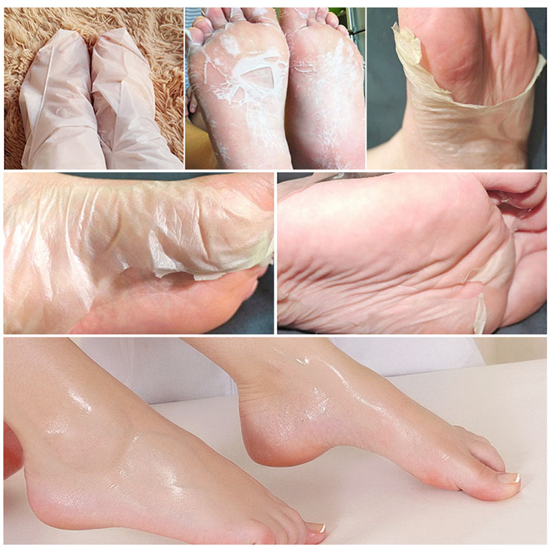 2Pair=4Pcs Baby Feet Peel Mask Remove Dead Skin Foot Mask For Legs Exfoliating Mask Pedicure Spa Socks For Bodys Treatment