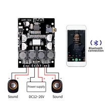 Tpa3118 2x30 w 8 26 v dc áudio estéreo bluetooth 5.0 placa de amplificador de potência digital para amplificadores