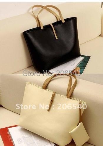 Free shipping New Fashion Women Belt Buckle PU Leather Handbag Shopper  Purse