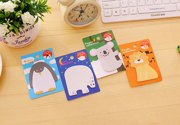 1pcs Novelty Cartoon animals sticky notes Memo Pad Paper Sticker Post It Notepad Gift Stationery Escolar Papelaria