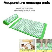 Beurha Massager Mat Set Yoga Massager Pillow Spike Cushion Acupressure Relieve Stress Pain Carry Bag Portable