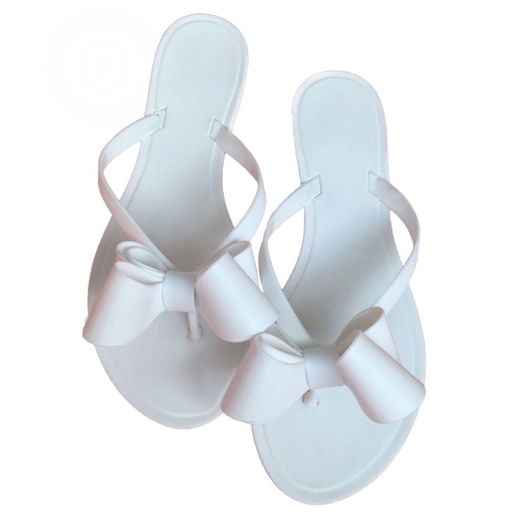 Flat Slippers Shoes Sandals Flip-Flops Ladies Kawaii Fwomen's Cute Mujer Bow
