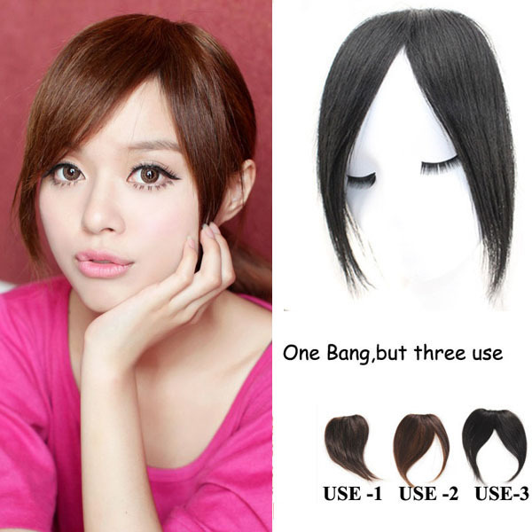 Womens 30g Multipurpose Virgin Real Hair Bangsfringes Front Side