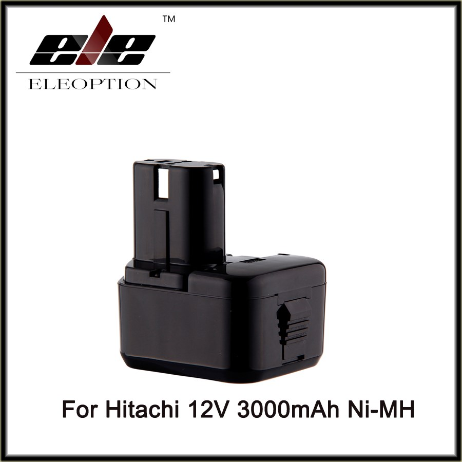 12V 3000mAh Ni-MH Eleoption Replacement Cordless Drill Power Tool Battery for Hitachi EB1212S EB1214L EB1214S Free Shipping free shipping replacement electric hammer drill switch for hitachi 65a 75 85 wholesale power tool accessories