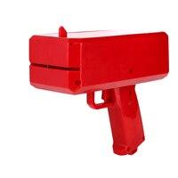 Toybus Cash Money Pistole Machen Es Regen Geld Kanone Spielzeug spieß Banknoten mit LED-Licht Rot Dekompression Pistole Spielzeug Kinder geschenke
