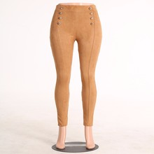 Sexy Army Women Suede Leggings